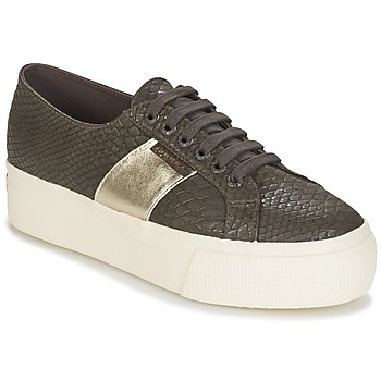Schoenen Dames Lage sneakers Superga 2790 PU SNAKE W Brown