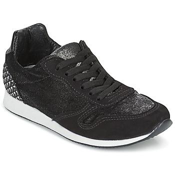 Schoenen Dames Lage sneakers Ippon Vintage RUN VELVET Zwart