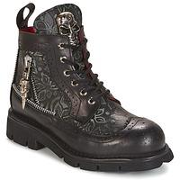 Schoenen Laarzen New Rock MORTY Zwart