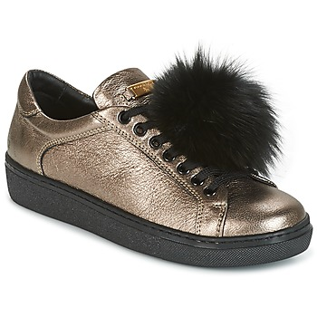 Schoenen Dames Lage sneakers Tosca Blu CERVINIA POM PON Zwart