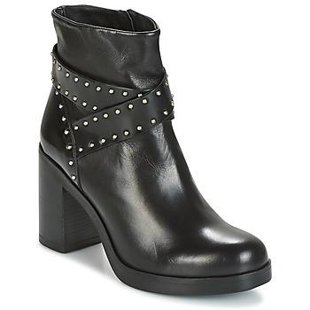 Schoenen Dames Enkellaarzen Tosca Blu ST.MORITZ Zwart