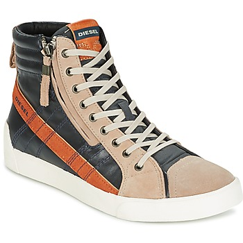 Schoenen Heren Hoge sneakers Diesel D-STRING PLUS Antraciet /  CAMEL