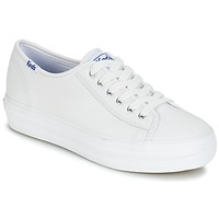 Schoenen Dames Lage sneakers Keds TRIPLE KICK CORE LEATHER Wit