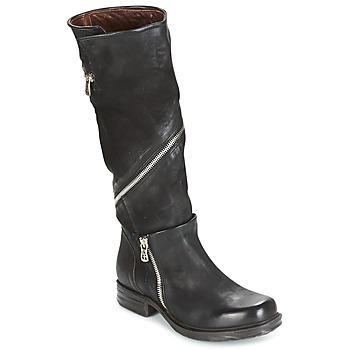 Schoenen Dames Hoge laarzen Airstep / A.S.98 SAINT EC ZIP Zwart