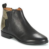 Schoenen Meisjes Laarzen Adolie ODEON WILD Zwart / Platinum