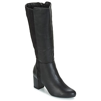 Schoenen Dames Hoge laarzen Moony Mood GINA Zwart