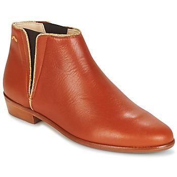 Schoenen Dames Laarzen M. Moustache JEANNE.B Cognac / Goud