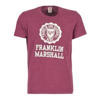 Textiel Heren T-shirts korte mouwen Franklin & Marshall GRAVI Bordeaux