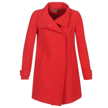Textiel Dames Mantel jassen Benetton MERCRA Rood
