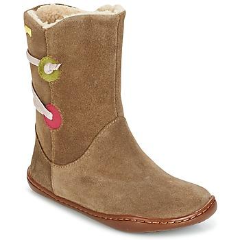 Schoenen Meisjes Laarzen Camper TWS Brown