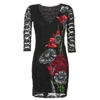Textiel Dames Korte jurken Desigual GRAFE Zwart
