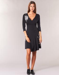 Textiel Dames Korte jurken Desigual GRAFU Zwart