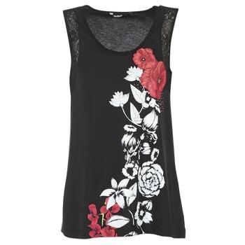 Textiel Dames Mouwloze tops Desigual MAGEIS Zwart