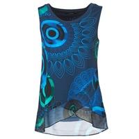 Textiel Dames Mouwloze tops Desigual TAMAC Blauw
