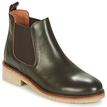 Schoenen Dames Laarzen Bensimon BOOTS CREPE Brown