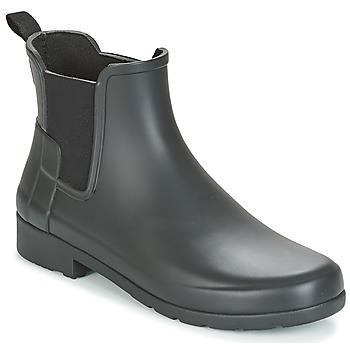 Schoenen Dames Laarzen Hunter ORIGINAL REFINED CHELSEA Zwart