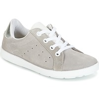 Schoenen Meisjes Lage sneakers Citrouille et Compagnie HINETTE Grijs / Zilver