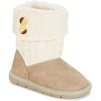 Schoenen Meisjes Laarzen Chicco CHARME Beige / Brown