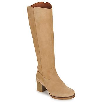 Schoenen Dames Hoge laarzen Casual Attitude HAPI Beige