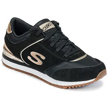 Schoenen Dames Lage sneakers Skechers SUNLITE Zwart / Goud