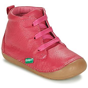 Schoenen Meisjes Laarzen Kickers SONICE  fuchsia
