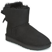 Schoenen Dames Laarzen UGG MINI BAILEY BOW II Zwart