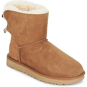 Schoenen Dames Laarzen UGG MINI BAILEY BOW II Brown