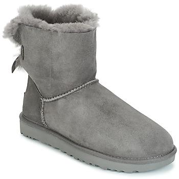 Schoenen Dames Laarzen UGG MINI BAILEY BOW II Grijs