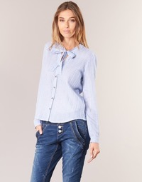 Textiel Dames Overhemden Cream CAMA STRIPED SHIRT Blauw