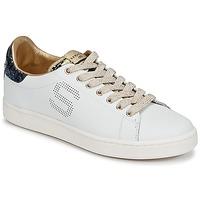 Schoenen Dames Lage sneakers Serafini J.CONNORS Wit / Blauw / Goud