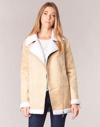 Textiel Dames Mantel jassen Betty London HARMI Beige