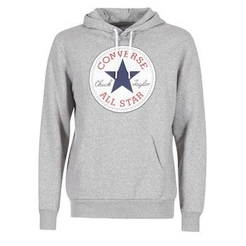 Textiel Heren Sweaters / Sweatshirts Converse CORE GRAPHIC PULLOVER HOODIE Grijs