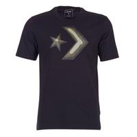 Textiel Heren T-shirts korte mouwen Converse DIMENSIONAL LAYER STAR CHEVRON TEE Zwart