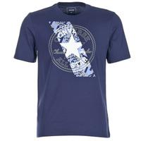 Textiel Heren T-shirts korte mouwen Converse CHUCKPATCH CONTRAST SLASH TEE Marine