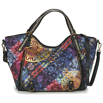 Tassen Dames Handtassen kort hengsel Desigual BOLS_ROTTERDAM TRANSFLORES Zwart / Multikleuren