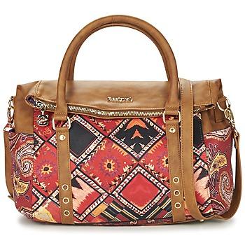 Tassen Dames Handtassen kort hengsel Desigual BOLS_LOVERTY  BOHO  CAMEL / Multikleuren