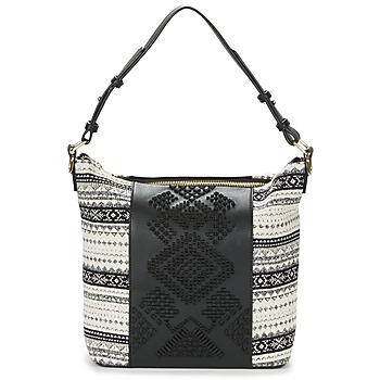Tassen Dames Handtassen lang hengsel Desigual BOLS_LILA ASTÚN Zwart / Creme