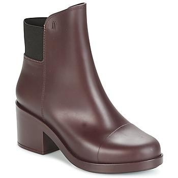Schoenen Dames Enkellaarzen Melissa ELASTIC BOOTS Bordeaux