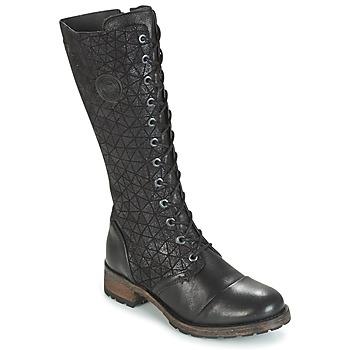 Schoenen Dames Hoge laarzen Pataugas DOLCE Zwart