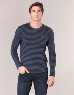 Textiel Heren T-shirts met lange mouwen Le Temps des Cerises ROGER Marine