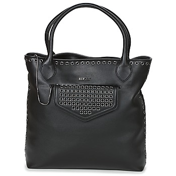 Tassen Dames Handtassen kort hengsel Replay DOPOI Zwart