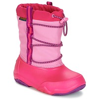 Schoenen Meisjes Snowboots Crocs Swiftwater waterproof boot Party / Roze