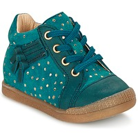 Schoenen Meisjes Hoge sneakers Babybotte FALSIFI Turquoise / Goud