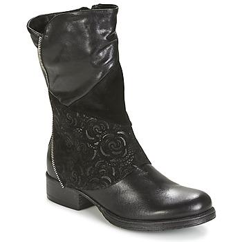 Schoenen Dames Laarzen Dream in Green HANPI Zwart