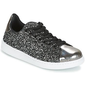 Schoenen Dames Lage sneakers Yurban HELVINE Grijs / Glitter