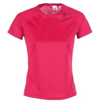 Textiel Dames T-shirts korte mouwen adidas Performance D2M TEE LOSE Roze
