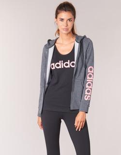 Textiel Dames Sweaters / Sweatshirts adidas Performance ESS LIN FZ HD Grijs