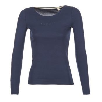 Textiel Dames T-shirts met lange mouwen Esprit GIMUL Marine