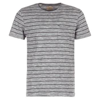 Textiel Heren T-shirts korte mouwen Selected FINN Grijs / Zwart