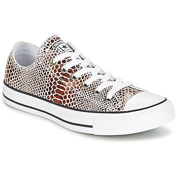 Schoenen Dames Lage sneakers Converse CHUCK TAYLOR ALL STAR FASHION SNAKE OX BROWN/BLACK/WHITE Zwart / Wit
